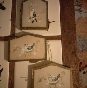 Set of 3 Birdie Wall Art